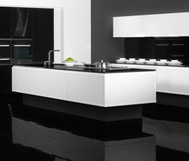 Contura - Black and White High Gloss Kitchen