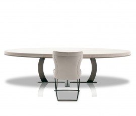 GILBERT TABLE | 300X130 H75 | HAND-FINISH BURNISHED METAL BASE | AVAILABLE MEASURES | TUSCANY MARINA | ROBERTO LAZZERONI