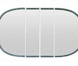 TORINO MIRROR | 312X5 H190 | 2 R:L SIDE MODULES – 2 CENTRAL MODULES | AVAILABLE MEASURES | KASHMIR JADE | PAOLA NAVONE